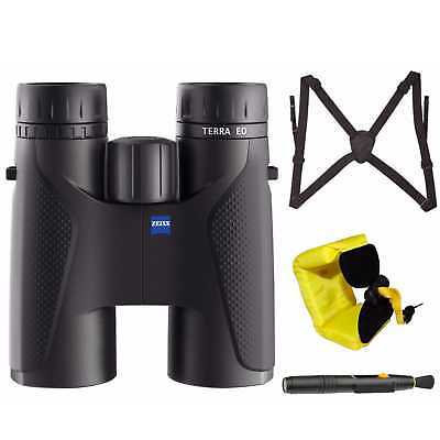 Zeiss Optical 10 x 42 Terra ED Binocular (Black) with Harness and Floating Strap
