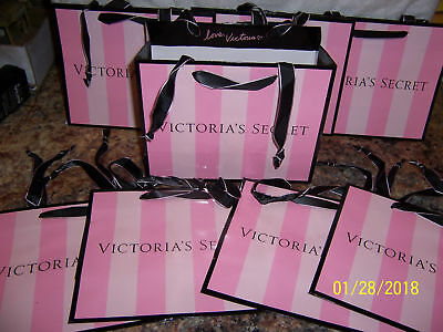 WHOLESALE Lot 100 VICTORIA'S SECRET Small HANDLED ICONIC SHOPPING GIFT BAGS :)