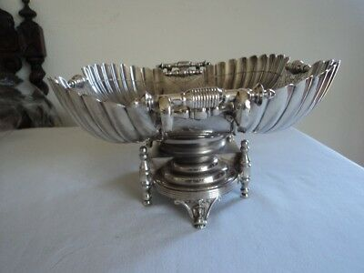 Magnificent large Wilcox quadruple silver plated bowl antique bowl from USA