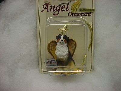 AUSTRALIAN SHEPHERD dog ANGEL Ornament  Resin Figurine Christmas TRICOLOR AUSSIE