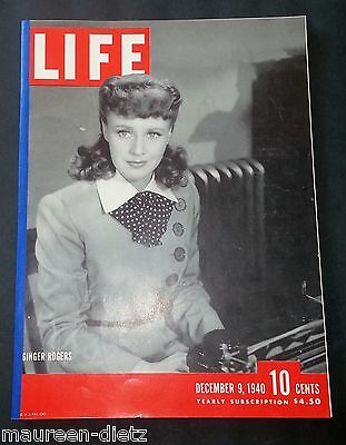 December 9, 1940 LIFE Magazine OLD 40s ads ad TOYS FREE SHIPPING 12 8 7 6 10 11