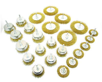 "24Pc Assorted drill wire wheels, wire brush attachments for drills 1/4"" shank"