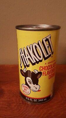 1970s Shakolet Chocolate Drink Straight Steel Soda Pop Can Maryland Heights, MO