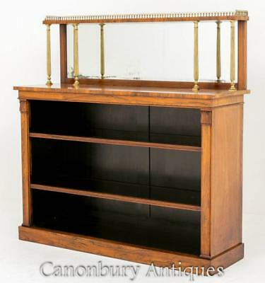 William IV Bookcase in Rosewood Open Front 19th Century Antique