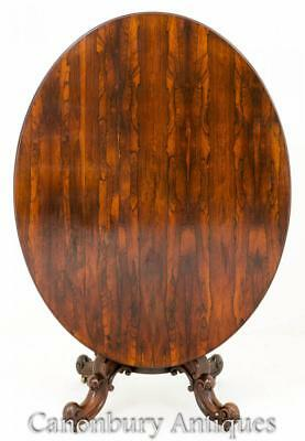 Rosewood Antique Breakfast Table - Flip Top Side Tables 1860