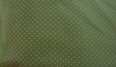 vintage flocked dotted swiss pale green  45 inch x 1 yard