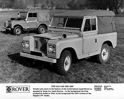 1948 Land Rover & 1969 88 Factory Photo cb0294