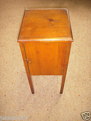 Antique Wooden Handmade Standing Sewing Chest