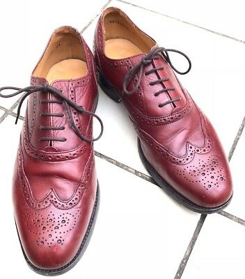 Barkers Savile Row By Barkers Oxblood Wingtip Brogues-Very Nice Condition -8 UK