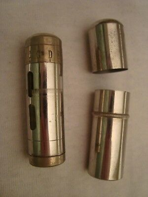 Antique Rare German Pitch Pipe Single Tuner Tuning Whistle in Case #2