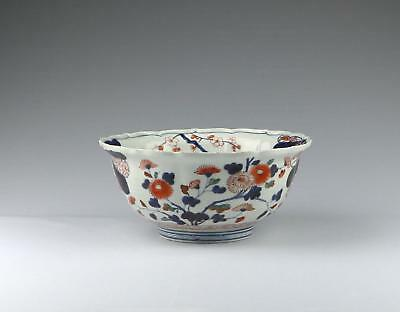 Superb Large Antique Early 18thC Edo Genroku Japanese Arita Imari Porcelain Bowl