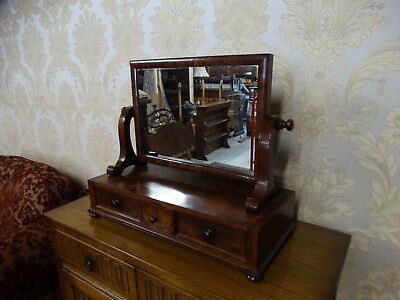 superb Antique Georgian Mahogany DRessing table mirror with drawers