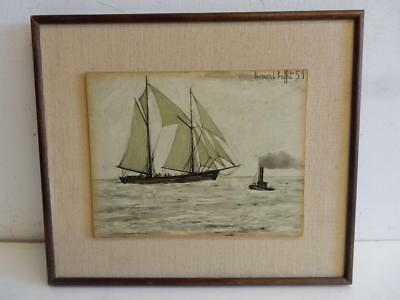 really old picture Bernard Buffet SAIL BOAT soho gallery