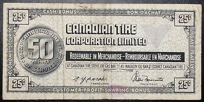 CTC S2-D Vintage 1972 Canadian Tire 25 Cents Note - Free Combined S/H