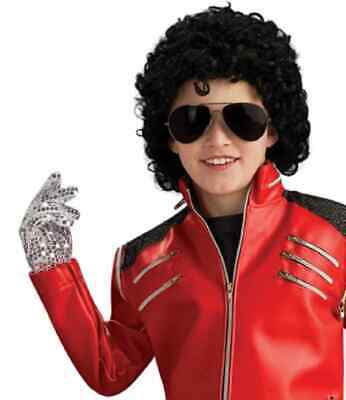 Michael Jackson Sequin Glove Pop Star Dress Up Halloween Child Costume Accessory