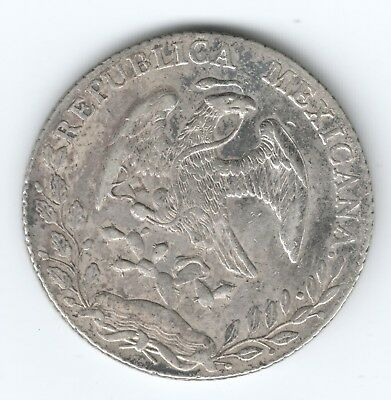 MEXICO 8 REALS 1887 SILVER COIN 27.13 g auction starts at £1