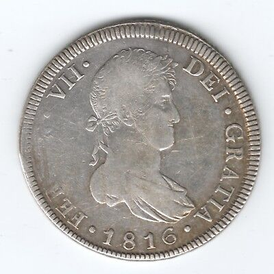 MEXICO 8 REALS 1816 SILVER COIN 26.81 g auction starts at £1