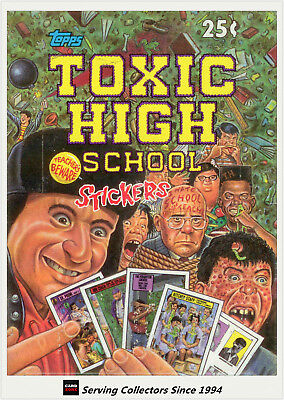 1991 Topps Toxic High School Stickers Factory Wax Box (36 packs)