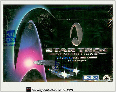 1994 SKYBOX STAR TREK THE GENERATION MOVIE CARD BOX (36) (Widevision)x3