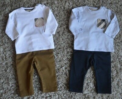 Burberry Next Baby Boys Designer Clothes Bundle 3-6 Months T-shirts Chinos