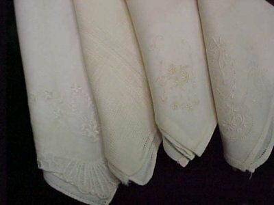 12 LOT Vintage Antique Wedding Ladies Hankie Handkerchief 1950s ALL Brides WHITE