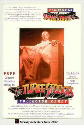 1997 The Three Stooges Trading Card Factory Box (30 pks + Official Album)-Rare
