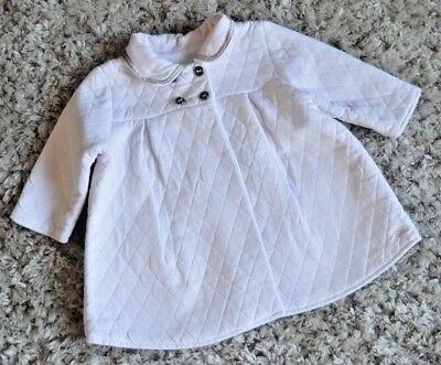 Burberry Baby Girls Designer Lightly Quilted Pink Summer Coat 9 Months Good