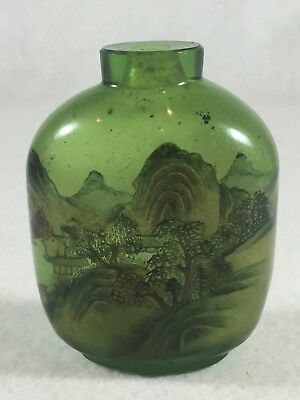 Vintage Chinese Inside Painted Green Snuff Bottle Collection Sold by Sotheby's
