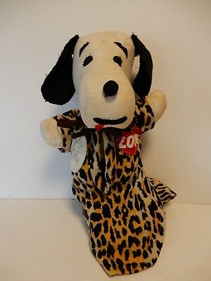 Weird Vintage Snoopy Plush Doll Estate Find Fork Art ?
