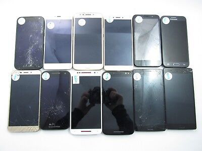 Lot of 12 Parts & Repair Assorted Unknown Carrier Check IMEI 5PR