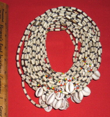 Dealer's Lot: (32) Contemporary Bead & Shell Necklaces, Collectible Beads