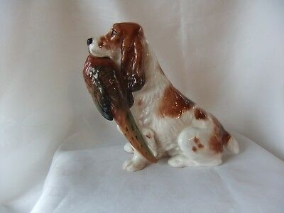 "Royal Doulton Cocker Spaniel With Pheasant  Hn 1011 - Largest Size  6 1/2 "" High"