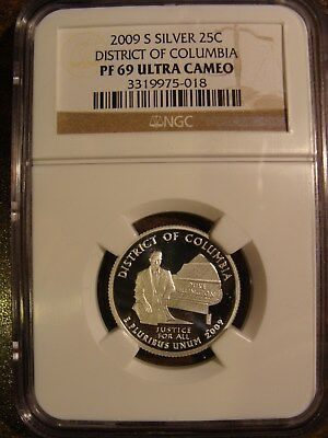 * 2009-S District of Columbia SILVER Qtr - NGC PF 69 Ultra Cameo!