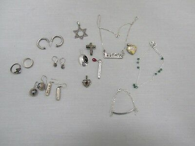Lot of 19 Sterling Silver .925 Pieces 59.5 grams total weight