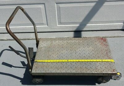 Rolling Table Cart Hydraulic Lift Cart w/Foot Pump Dolly LOCAL PICKUP ONLY AS IS