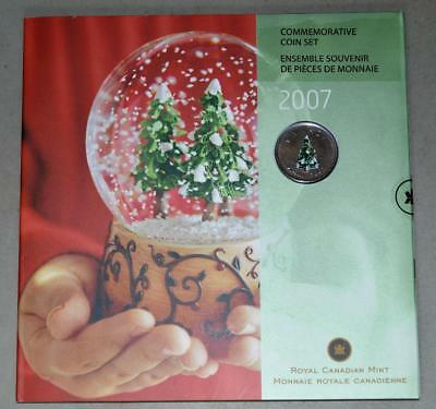 Canada 2007 Mint Set 7 Coins with Coloured 25 Cents - Holiday Gift Set