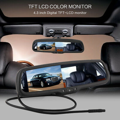 """4.3"""" TFT LCD Car Auto Reverse Parking Rearview Mirror Dimming Monitor Rear View"""