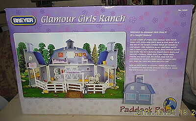 Breyer Paddock Pals Portable Glamour Girls Ranch W/horse,rider,accessories=Nrfb