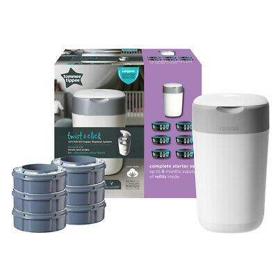 Tommee Tippee Sangenic Tec Nappy Disposal Starter Pack with 6 Cassettes