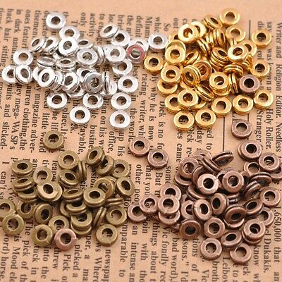 100Pcs Tibetan Silver Charms DIY Spacer Beads For Jewelry Findings 6MM metal