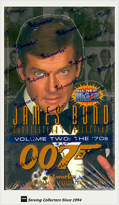 1996 James Bond Connoisseur collection Volume 2-the 70's Card Box (36 packs)