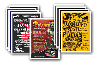 THE DAMNED - 10 promotional posters - collectable postcard set # 5
