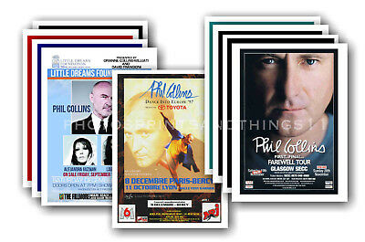 PHIL COLLINS - 10 promotional posters - collectable postcard set # 2