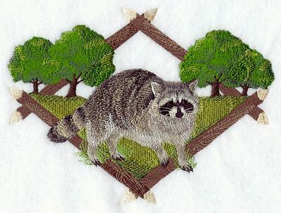 Embroidered Long-Sleeved T-Shirt - Raccoon Diamond Portrait A5042 Sizes S - XXL