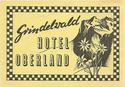 HOTEL OBERLAND luggage label (GRINDELWALD)