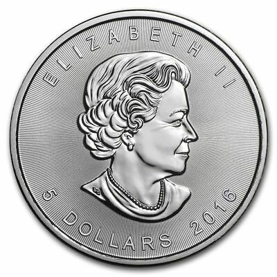 CANADA $5 Dollars 2016 (MAPLE LEAF) SILVER 1oz coin (.9999) NEW IN CAPSULE