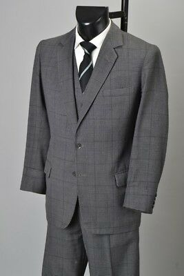 Gentleman's 1960s' London Tailored Prince of Wales Check Worsted Suit. Ref GCV