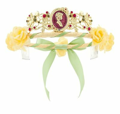 Disney Store Authentic Nwt Frozen Anna Princess Jeweled Crown Tiara With Flowers