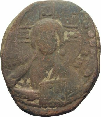 Ancient Byzantine 1020- 1028 BASIL II/ Constantine VIII Large Follis Christ #3