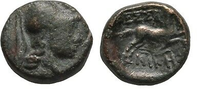 Rare Ancient Greece 187-31 BC MACEDON THESSALONICA ATHENA HORSE SERPENT